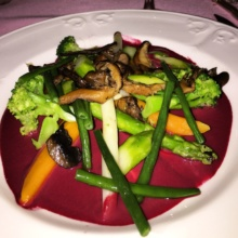 Gluten-free vegetarian entree from Le Cremaillere