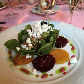 Gluten-free beet salad from Le Cremaillere