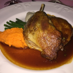 Gluten-free duck from Le Cremaillere