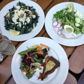 Gluten-free plates from Le Pain Quotidien