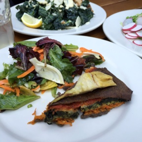 Gluten-free quiche and salad from Le Pain Quotidien