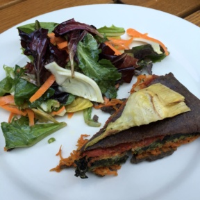 Gluten-free veggie quiche from Le Pain Quotidien