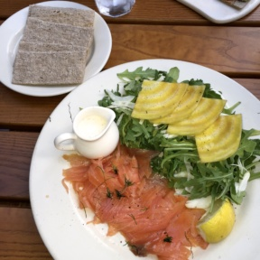 Gluten-free salad with lox from Le Pain Quotidien