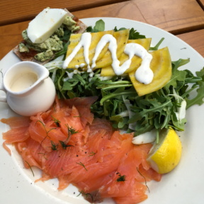 Gluten-free smoked salmon from Le Pain Quotidien