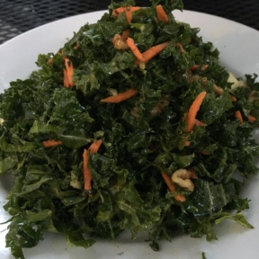 Gluten-free kale salad from Leaf Vegetarian