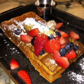 Gluten-free waffle from Lexington Brass