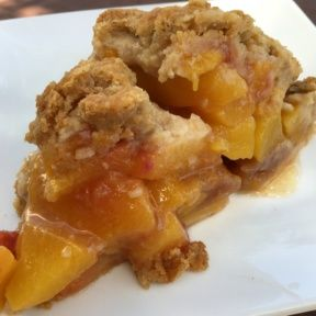 Gluten-free peach pie from Lilac Patisserie