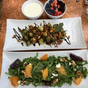 Gluten-free salads and yogurt from Little Next Door
