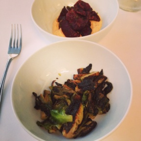 Gluten-free brussels sprouts and beets from Little Prince