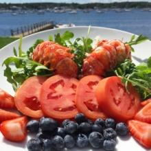 Gluten-free lobster salad in Cape Cod