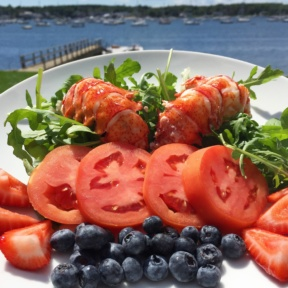 Gluten-free lobster salad in Cape Cod