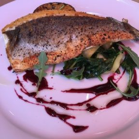 Gluten-free fish from Locanda del Lago