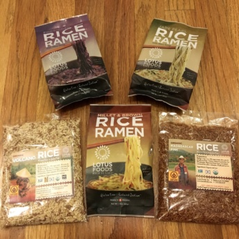 Gluten-free rice ramen and rice from Lotus Foods