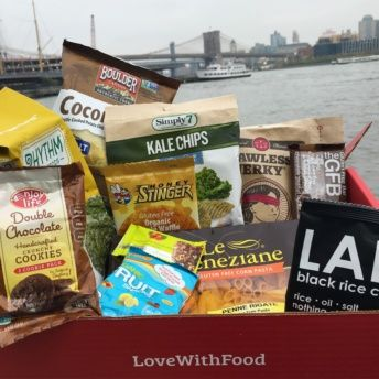 Gluten-free box of products from Love With Food