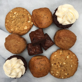 Assorted gluten-free baked goods from Lucky Spoon Bakery