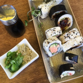 Gluten-free sushi roll from M Cafe