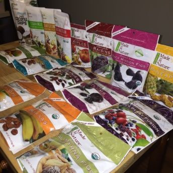 Gluten-free dried fruit from Made in Nature