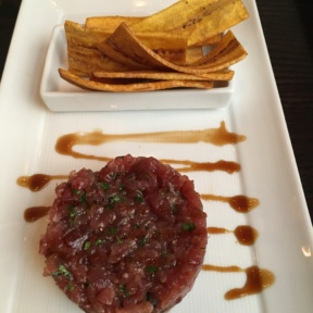 Gluten-free tuna tartare from Madison Square Tavern