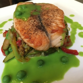 Gluten-free salmon from Madison Square Tavern