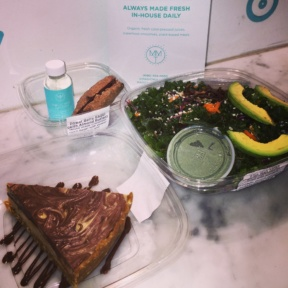 Gluten-free salad and dessert from Magic Mix Juicery