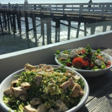 Gluten-free salads with a view at Malibu Farm Restaurant