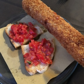 Gluten-free bruschetta and mozzarella sticks from Mama Eat!
