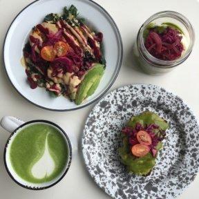 Gluten-free lunch spread from MatchaBar