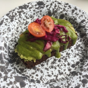 Gluten-free avocado toast from MatchaBar