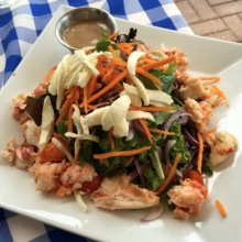 Gluten-free lobster salad from Merchants Riverhouse