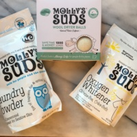 Gluten-free laundry powder and dryer balls from Molly's Suds