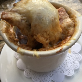Gluten-free French onion soup from Mon Ami Gabi