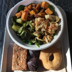 Gluten-free salad and baked goods from Mulberry & Vine