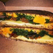 Gluten-free squash grilled cheese from Murray's Cheese