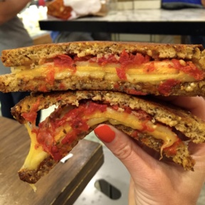 Gluten-free grilled cheese from Murray's Cheese