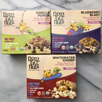Organic nut-free chewy granola bars by Don't Go Nuts