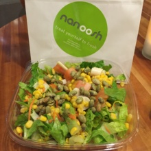 Gluten-free salad from Nanoosh