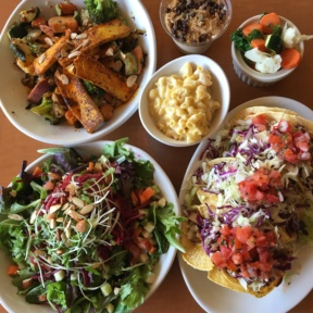 Gluten-free vegan spread from Native Foods Cafe