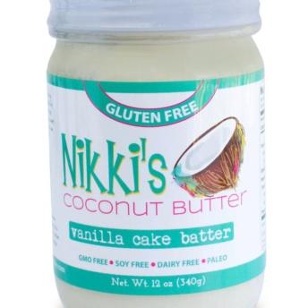 Gluten free vanilla cake batter coconut butter by Nikki's Coconut Butter