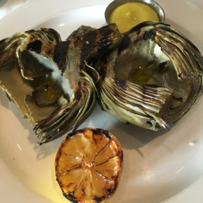 Gluten-free artichokes from North End Grill