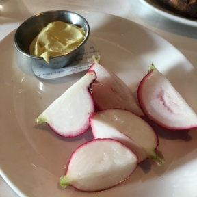 Gluten-free radishes from North End Grill