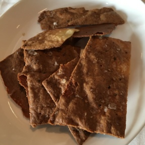 Gluten-free crackers from North End Grill