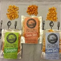 Gluten-free split pea crunch snacks from North River Dry Goods