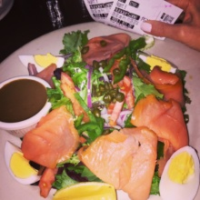 Gluten-free smoked salmon salad from O'Neill's Pub & Restaurant