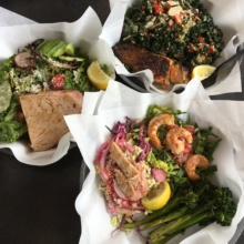 Gluten-free tacos and salads from Ocean Market Grill