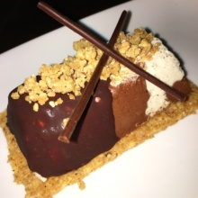 Gluten-free chocolate dessert from Oceana