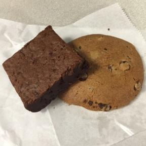 Gluten-free cookie and brownie from Open Kitchen