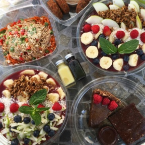 Gluten-free acai bowls and detox shots from Open Source Organics