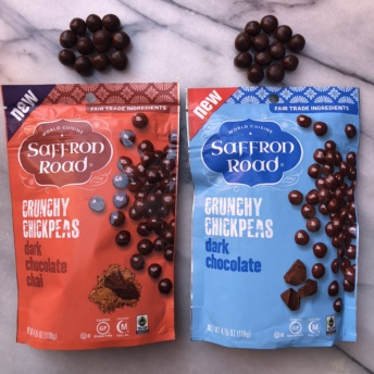 Chocolate covered chickpeas from Saffron Road