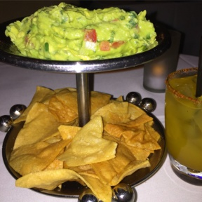 Gluten-free guacamole and chips from Pampano