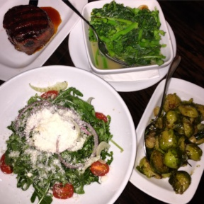 Gluten-free dinner spread from Parker & Quinn at The Refinery Hotel